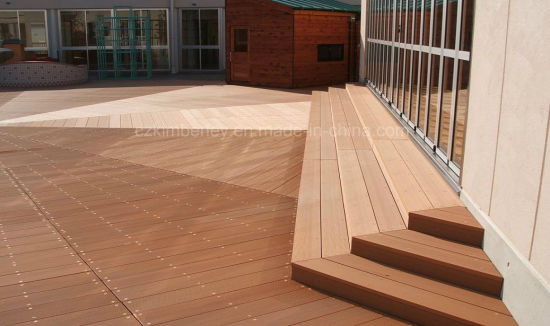 Factory Direct Sale Waterproof Recycling Wood Plastic WPC Decking Laminate Flooring
