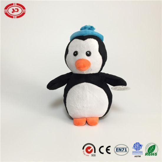 Lovely Soft Velboa Winter Penguin Wear Hat Cute Xmas Toy