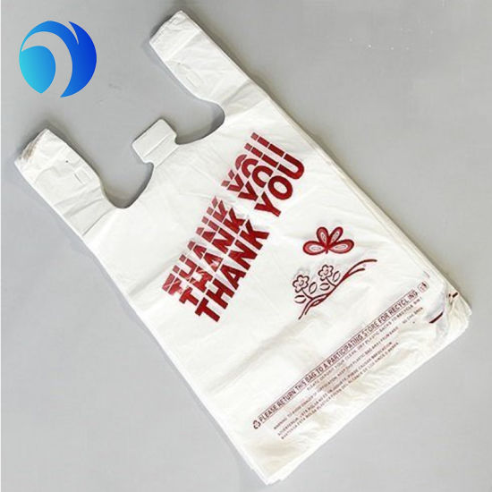 HDPE/LDPE PE Custom Plastic Corn Starch Shopping Supermarket Biodegradable Compostable Environment-Friendly Printing T-Shirt Bags on Roll or in Pack pictures & photos