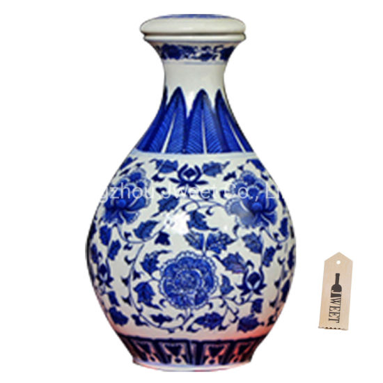 Custom 750 Ml Tequila Porcelain Ceramic Bottle