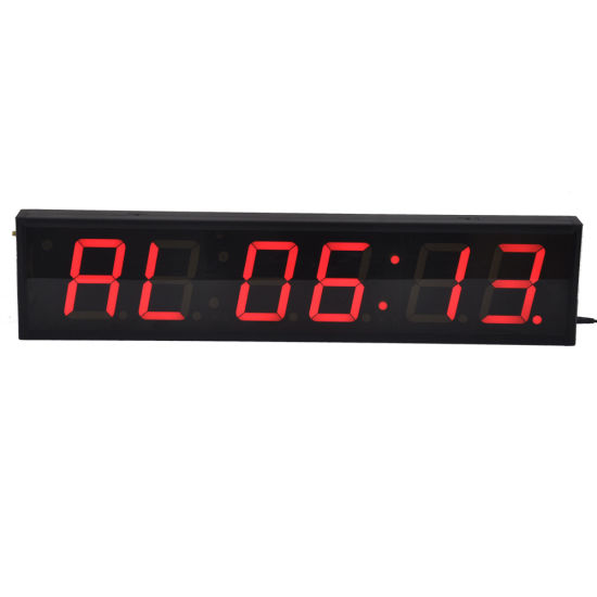 "4"" 6 Digit Programmable LED Interval Timer for Fitness Gyms"
