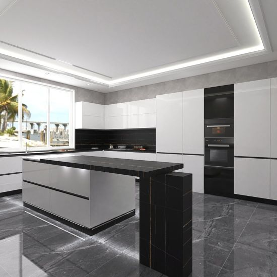 Modern Design MDF/Plywood Materials Lacquer Kitchen Cabinets