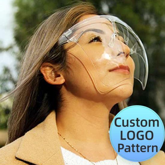 Semi, China Wholesale Blocc Face Shield Anti-Fog, Transparent Full Face Protective Mask, Pantalla Facial, 15 Fashion Color, Can Be Customized or OEM