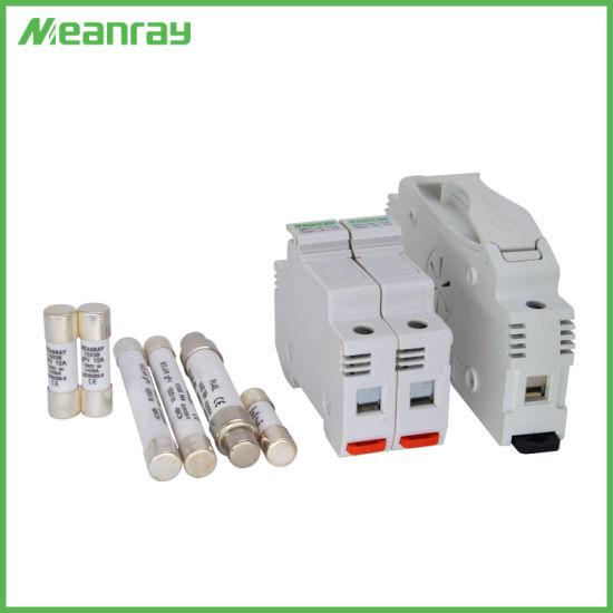 DC Fuse Base 2p 1500VDC PV System High Voltage 1500V 15A Solar Fuse