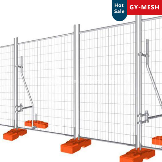 Australia Welded Wire Mesh Fence/Hot Dipped Galvanized Temporary Fence Feet & Clamp/Brace
