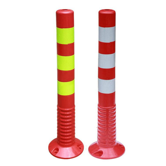 Rubber Base Flexible Road Warning Posts Traffic Cone