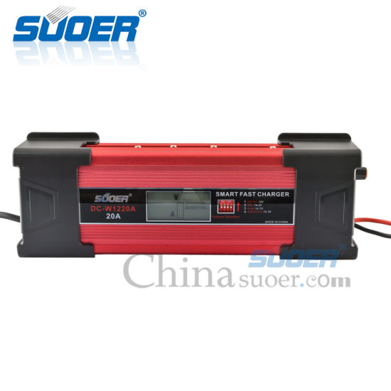 Suoer 20A 12 Volt Intelligent Charge Lead Acid 12V Car Battery Charger (DC-W1220A) pictures & photos