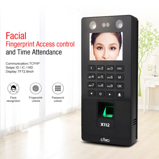 X112 Facial Fingerprint Standalone Access Control and Time Attendance