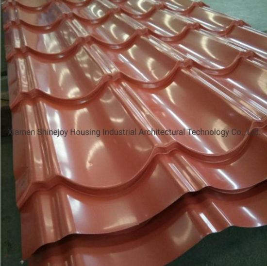 Glazed Aluminum Steel Metal Interlock Temple Park Building Roof Sheet