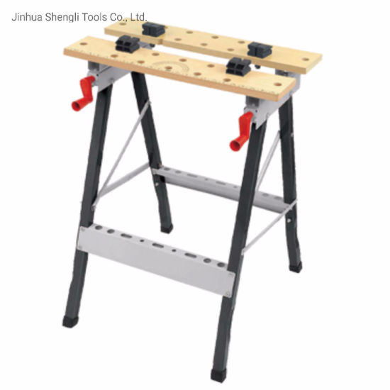 Weight Capacity 100KG Portable Workshop Repair Tools Table Shop Workbench Work Table Bench Clamping Workmate Worktop Folding Work Bench Table