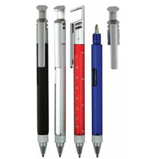 Multi-Function Tool Plastic Ball Pen with Srcrewdriver, Phone Holder, Spirit Level Gauge pictures & photos