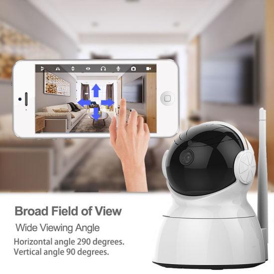 White Mini Alarm System WiFi Wireless IP Smart Surveillancecamera Wy01
