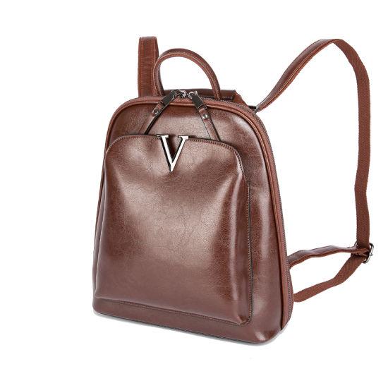 Custom Fashion Luxury Leather Handbag Purse Woman Top Quality Backpack