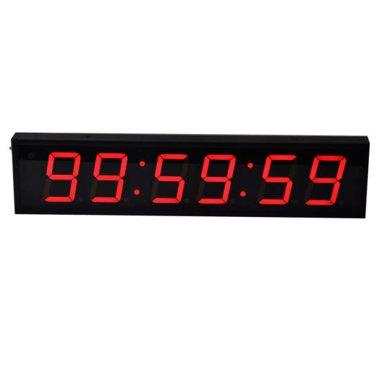 "4"" 6 Digit Indoor Programmable LED Digital Countdown Timer for Gyms"