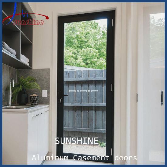 Beautiful Design Black Color Patio Door, Aluminum Metal Hinged Door for Patio