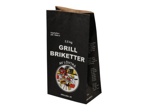 Coal Paper Bag Hardwood Charcoal Briquett BBQ Coal Packaging Kraft Paper Bag