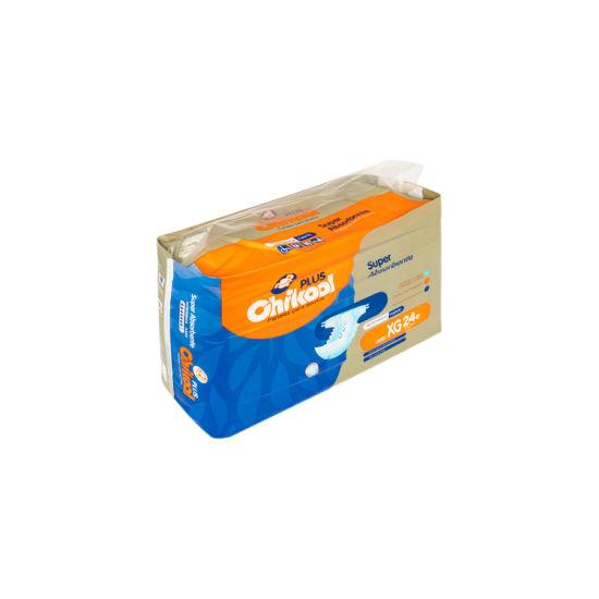 Disposable Premium Quality Best Price Medium Large 3D Leak Cuff Elder Hospital Adult Diaper Wholesale Manufacturer China