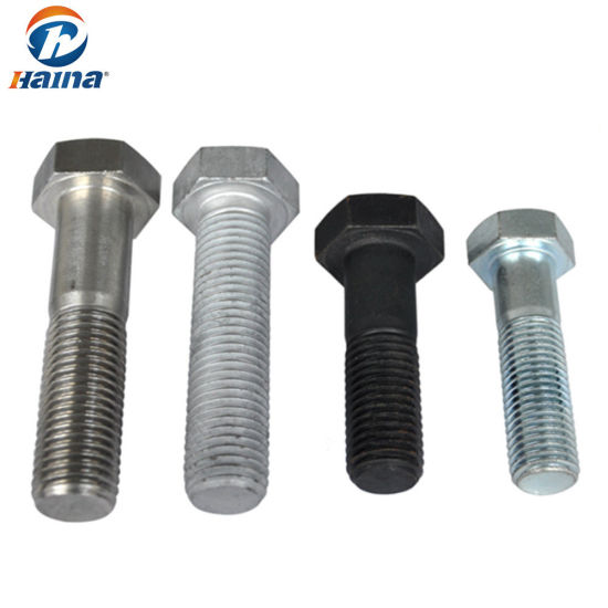 Made in China Stainless Steel SS304 /316 Zinc Plated /Hot DIP Galvanized 4.8/5.8 /6.8 /8.8 Thread Bolt /Hex Bolts and Nuts /Hex Bolt & Nut / (DIN933 AND DIN934)