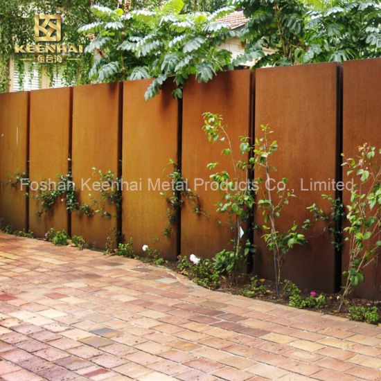 Anti Corrosion Corten Steel Fence