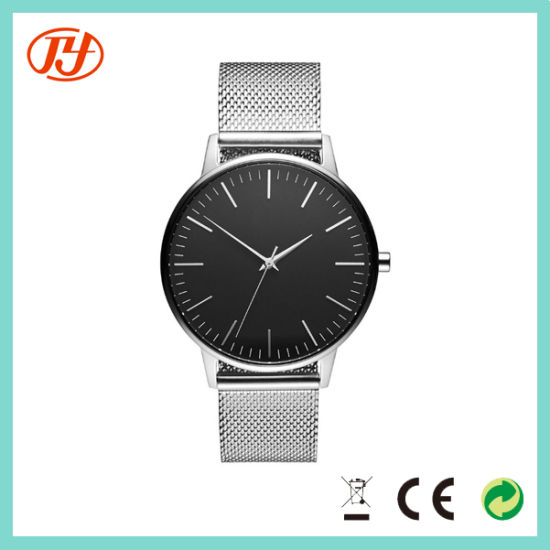 Whosale Promotional Rose Gold Mesh Strap Ladies and Men Watches pictures & photos