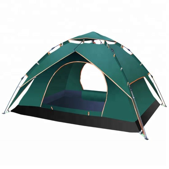4 Person Double Layers Pop up Waterproof Camping Tent pictures & photos