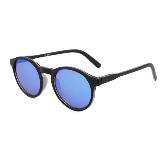 2019 High Quality Round Eyewear Blue Mirror Circle Sunglasses