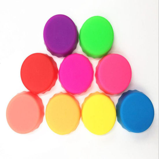Custom Colorful Foot Grade Silicone Beer Cap