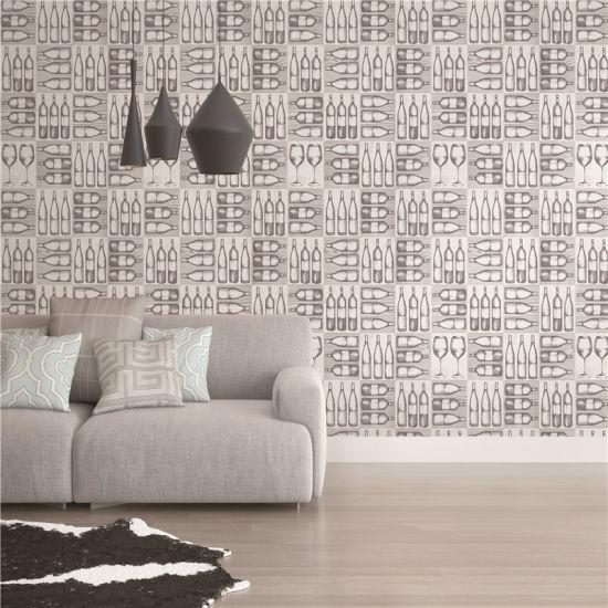 China Interior and Exterior Waterproof 3D PVC Wall Panel, wall paper