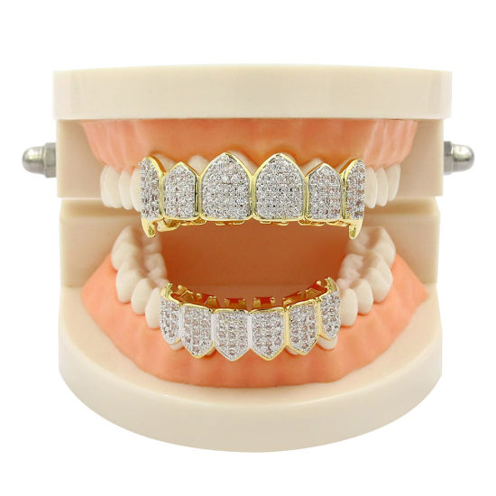 18K Gold Plated CZ Grill Bling Bling Grillz Hip Hop Grillz Fashion Grillz pictures & photos