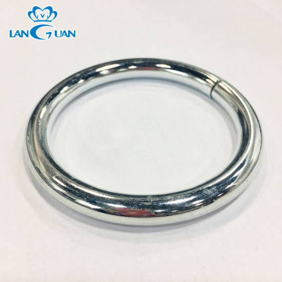 Zinc Alloy O Ring Metal Handbag Accessories 8*50mm