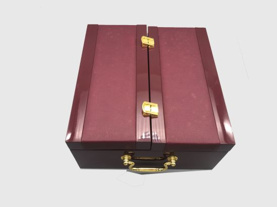 Unique Fashionable Custom Leather Wooden Best Case for Wine