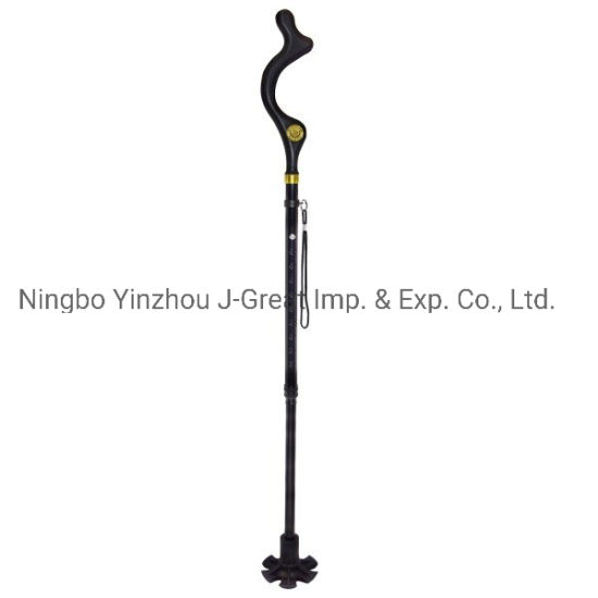 New Design Foldable Adjustable Aluminum Cane Elderly Walking Stick (JGM0019) pictures & photos