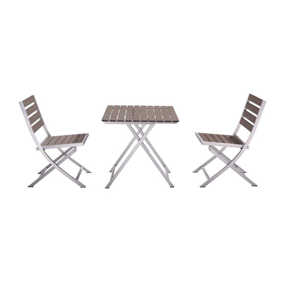 Marvelous Aluminum Plastic Wood Folding Table And Chair Contemporary Outdoor Dining Furniture Gmtry Best Dining Table And Chair Ideas Images Gmtryco