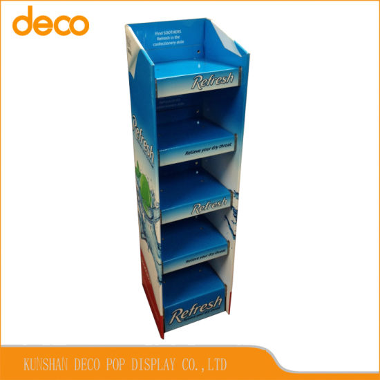 Foods Display Stand Cardboard Retail Display Shelf for Stores