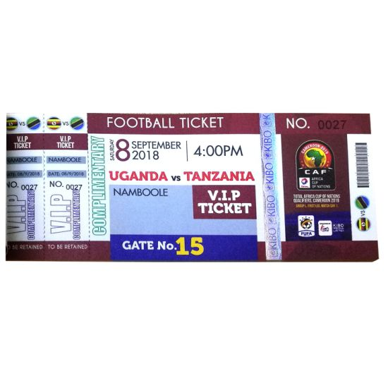 Customized Design Security Ticket Printing