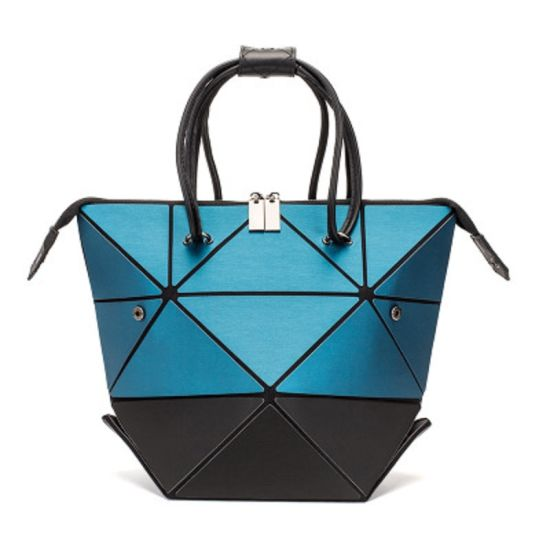Geometric Bag Changeable Shape Luminous Purses Top Handle Satchel Shoulder Large Handbags Leather Rainbow Holographic Bag Esg13464