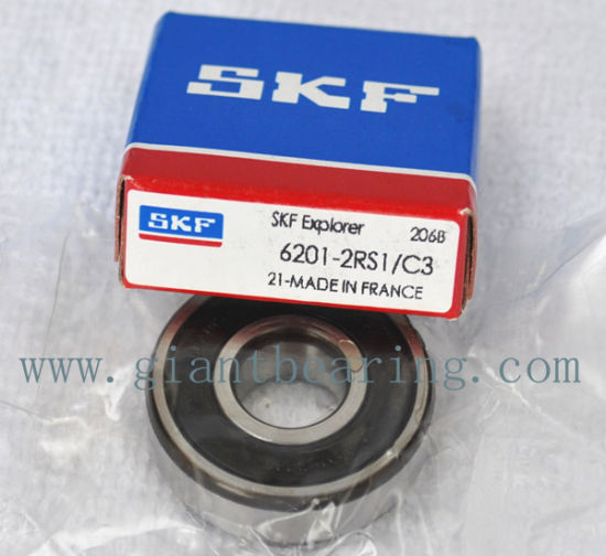 NEW 6201-2RS1C3 SKF Single Row Ball Bearing
