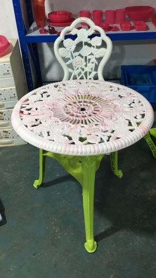 Used Plastic Injection Rose Design Table and Chair Molds