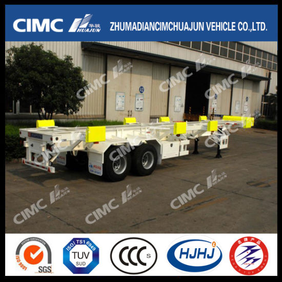 Cimc Huajun 40FT 2axle Skeleton Terminal Semi-Trailer pictures & photos