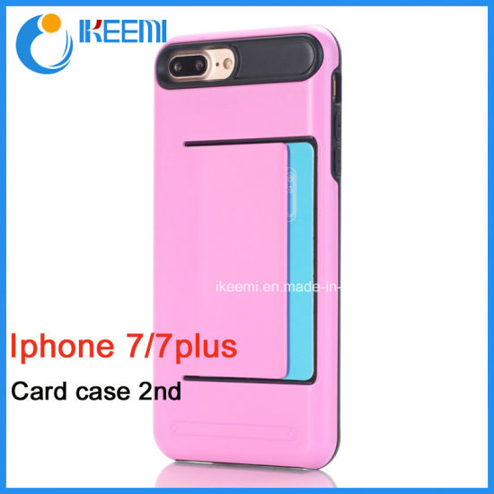 2016 New Product iPhone7/7plus Case with Card Slot pictures & photos
