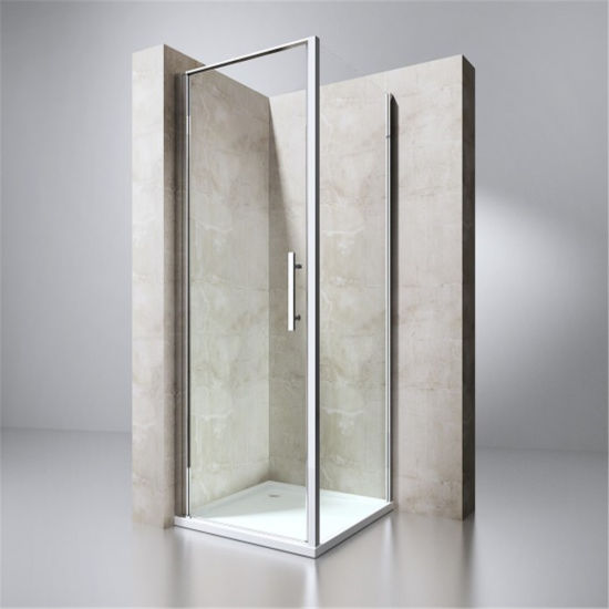 Contemporary Simple Design Stainless Steel Sliding Shower Enclosure with Frame and Handles
