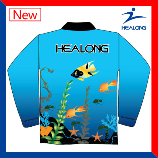 Custom Sublimation Mens Fishing Apparel Cheap pictures & photos