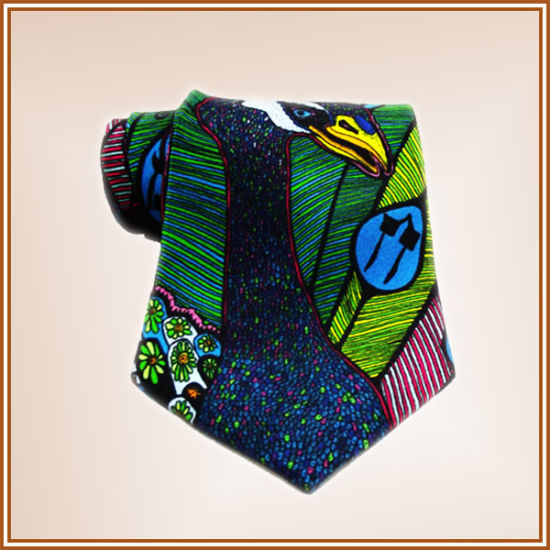 Customized Digital Printed Silk Tie pictures & photos
