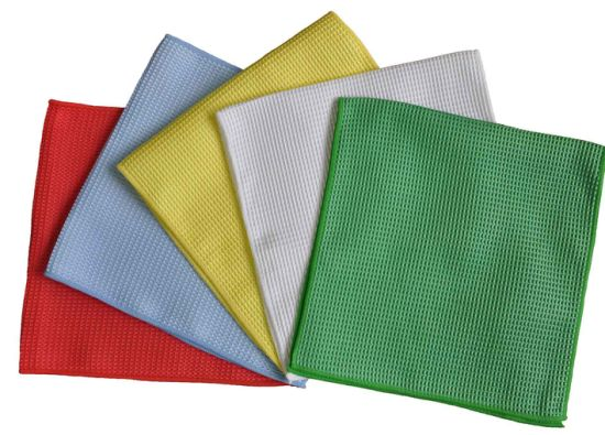 (YYMC-320W) Drying Towel Microfiber Waffle Weave Car Polishing Cloth