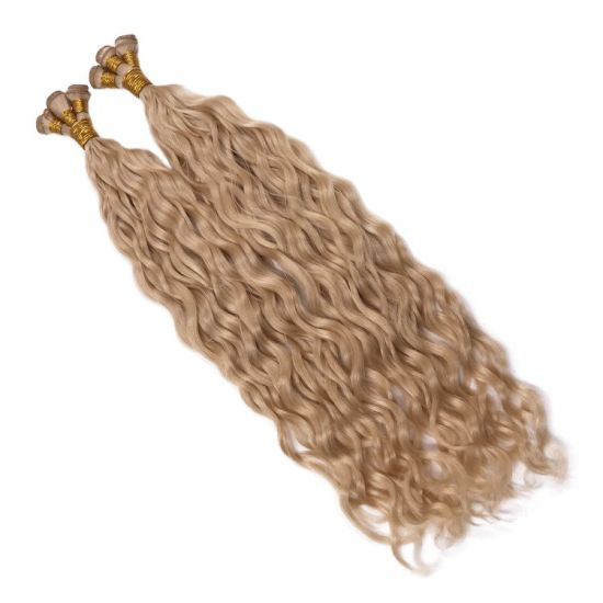 Highest Quality Blonde 10A Hair 100% Remy Virgin Hand Tied Weft Hair Extension pictures & photos