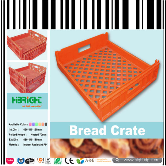 Plastic Bread Toast Crates Loaf Trays pictures & photos