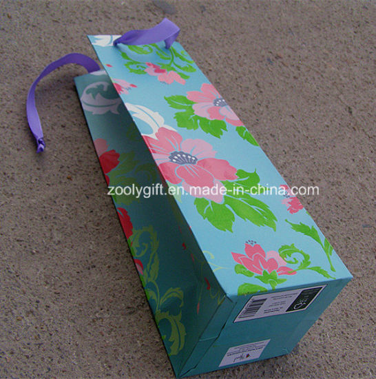 Custom Logo Printing Recycle Wine Bottle Paper Bags pictures & photos