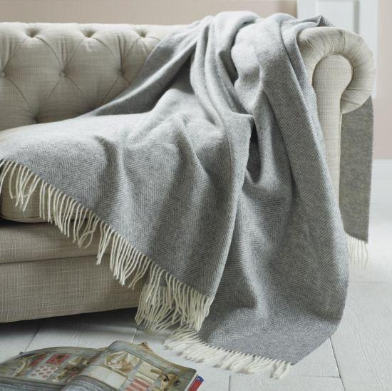 China Woven Herringbone Merino Wool Blanket Throw China Woven Wool Unique Merino Wool Blanket Throws