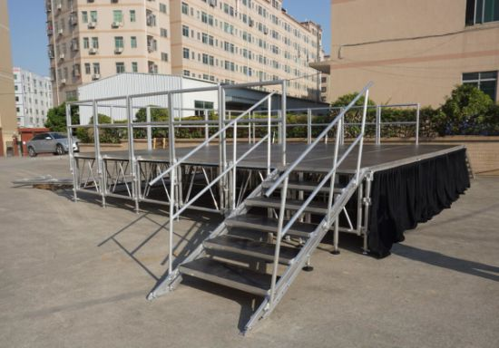 Aluminum Stage 60mm Thickness Plywood Platform with Adjustable Height pictures & photos