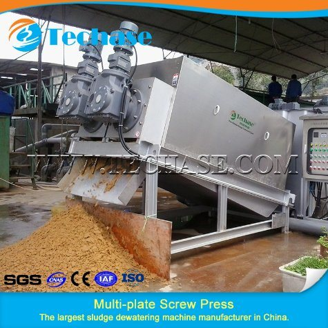 Wastewater Treatment Screw Filter Press for Sludge Dewatering pictures & photos
